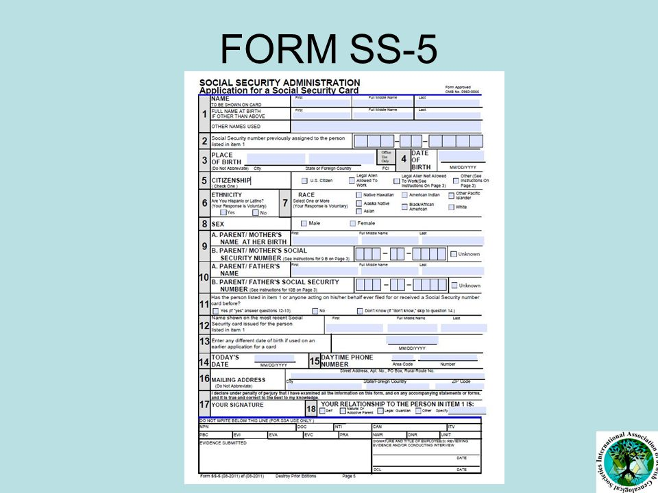 FORM SS-5