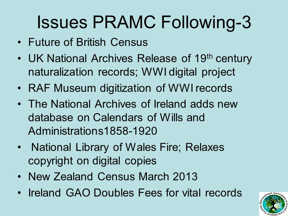 IAJGS POSITION ON LEGISLATION: I DEAL : No Restrictions on DMF/SSDI Access.
