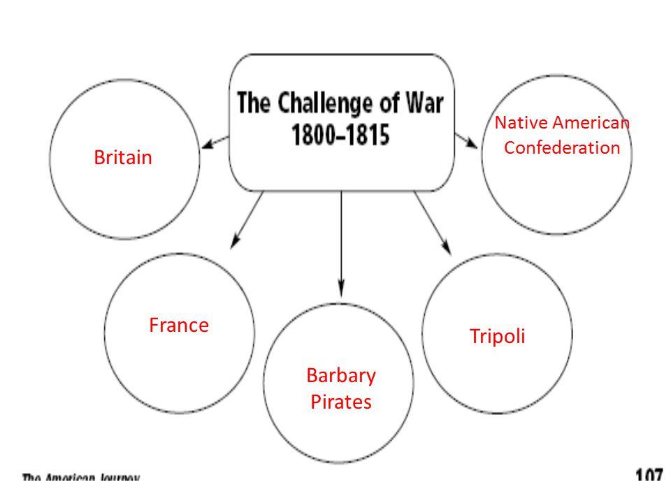 Britain France Barbary Pirates Tripoli Native American Confederation