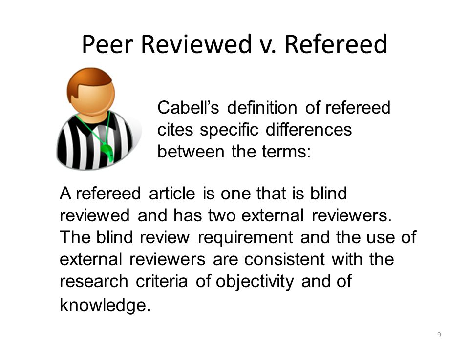 Peer Reviewed v.