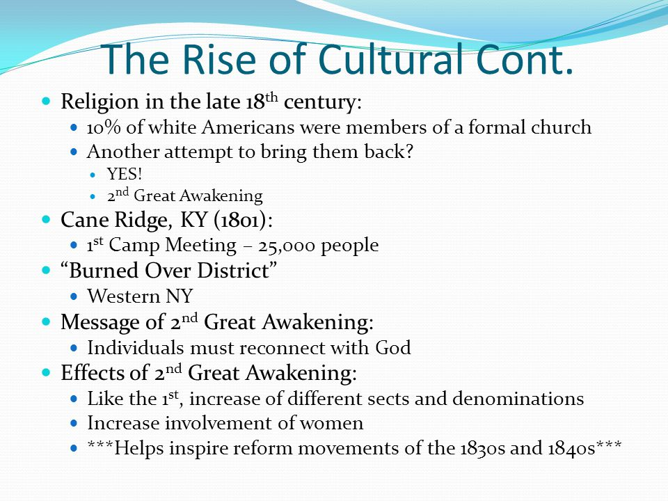 The Rise of Cultural Cont.