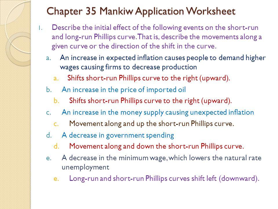 Chapter 35 Mankiw Application Worksheet 1.