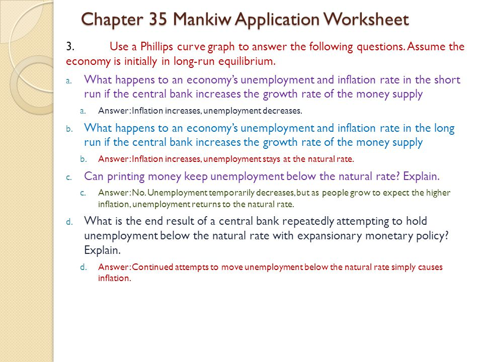 3.Use a Phillips curve graph to answer the following questions.