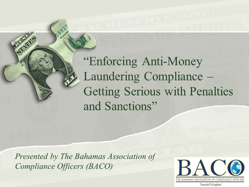 Enforcing AML Compliance with sanctions 20 August, 2014, the Scotsman published that Standard Chartered Bank had agreed to pay NY regulator a penalty of $300 million for failing to improve its money laundering controls.
