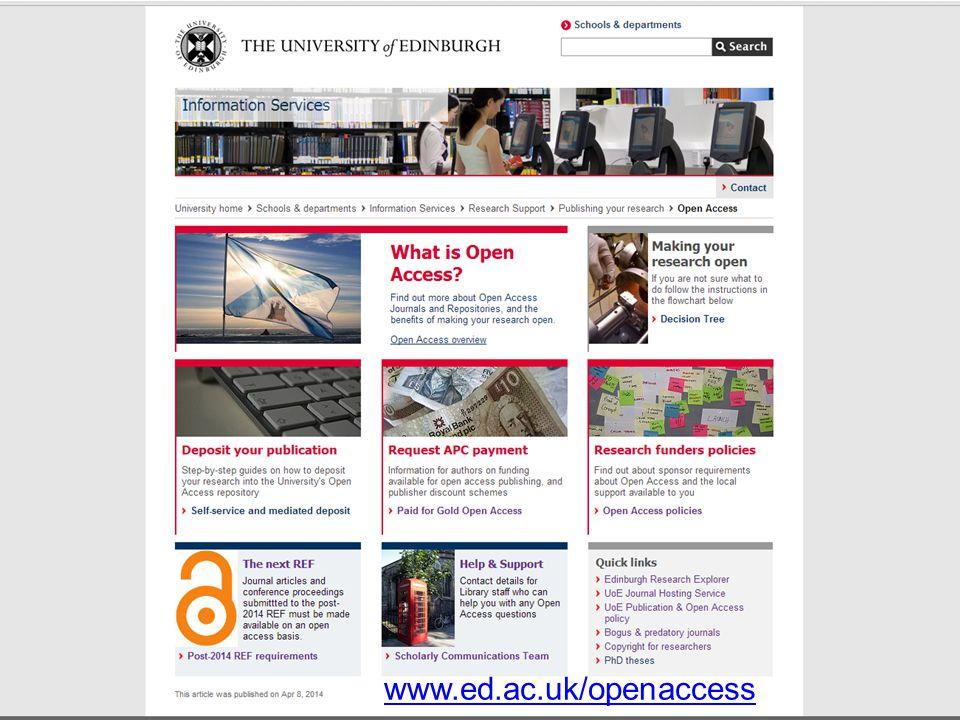www.ed.ac.uk/openaccess