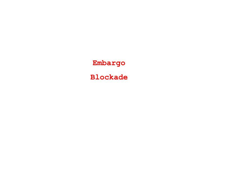 Embargo Blockade