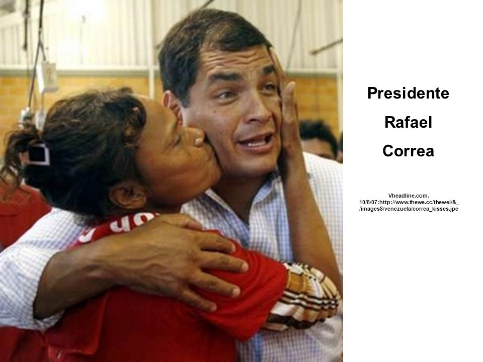 Presidente Rafael Correa Vheadline.com.