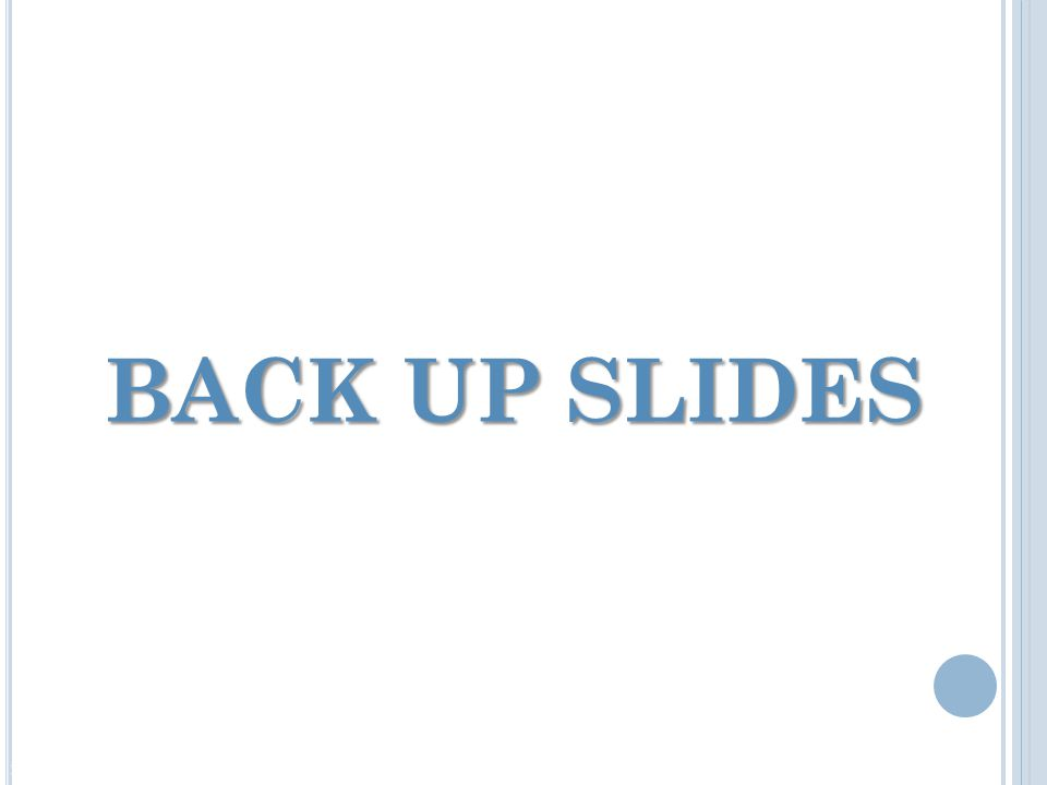 BACK UP SLIDES DEPARTMENT OF ENERGY | NATIONAL NUCLEAR SECURITY ADMINISTRATION | OFFICE OF INFRASTRUCTURE AND OPERATIONS
