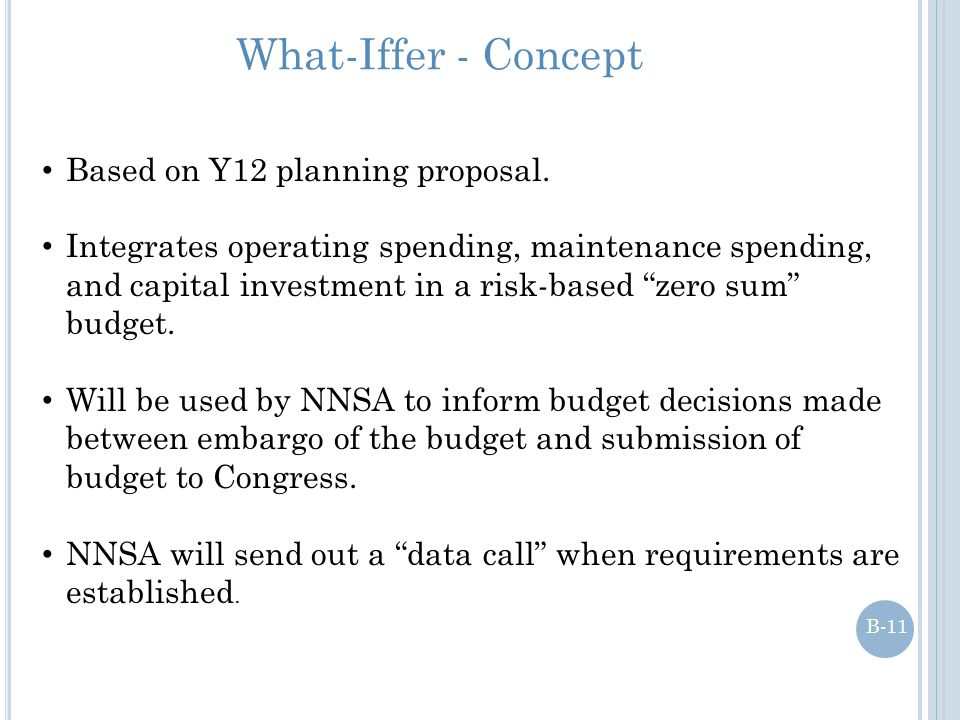 """What-Iffer - Concept Based on Y12 planning proposal. Integrates operating spending, maintenance spending, and capital investment in a risk-based """"zero"""