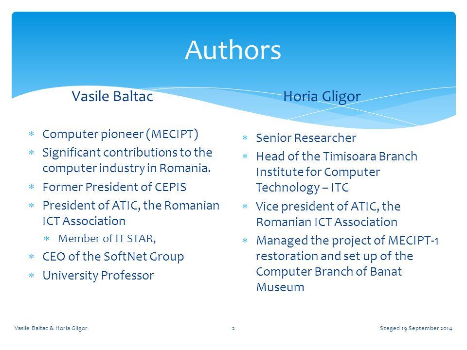 Early International Cooperation Szeged 19 September 2014Vasile Baltac & Horia Gligor13  MECIPT  Iosif Kaufmann letter to Prof.
