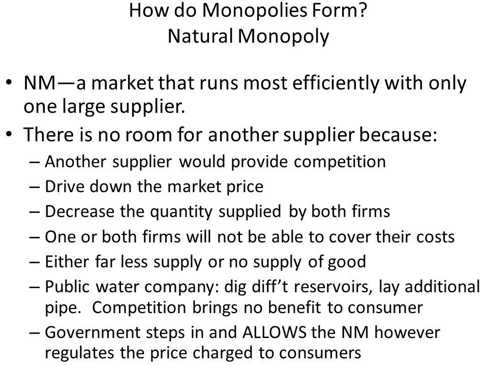 How do Monopolies Form.