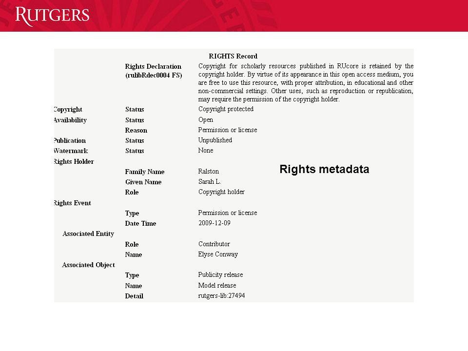 Rights metadata