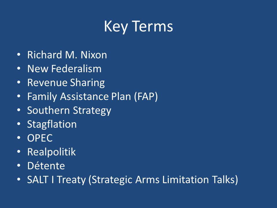 Key Terms Richard M.