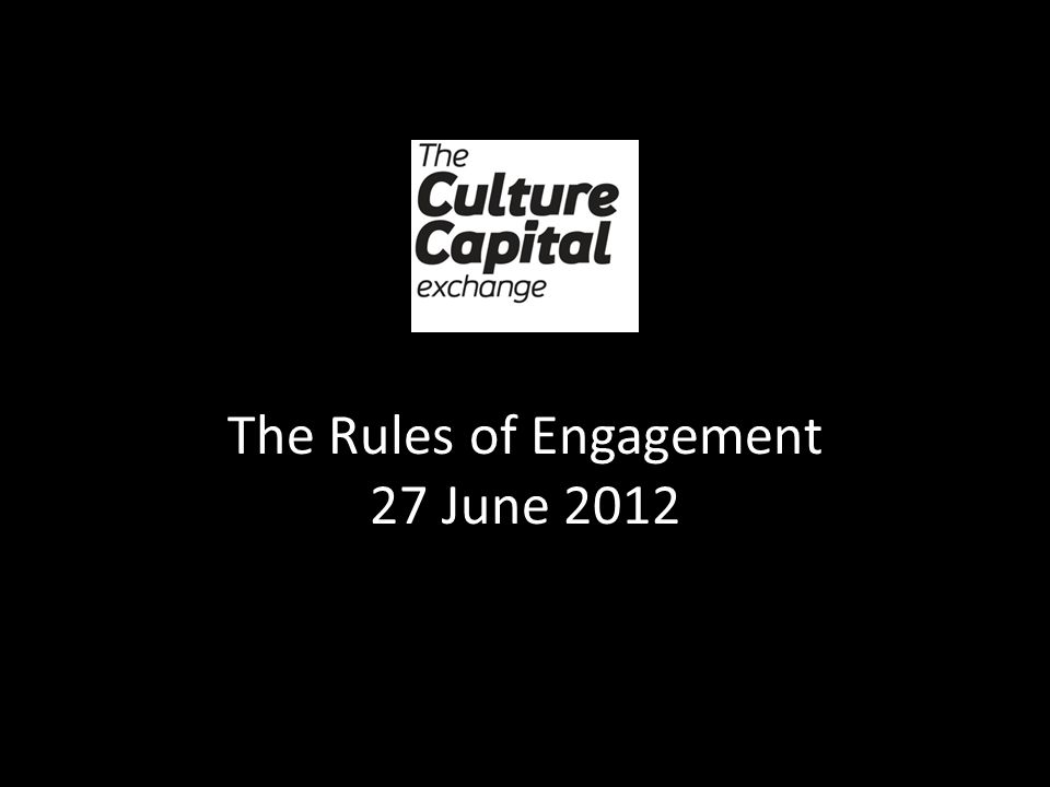 The Rules of Engagement 27 June 2012