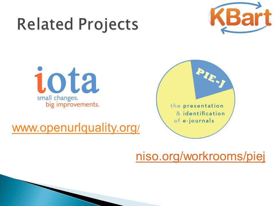 www.openurlquality.org / niso.org/workrooms/piej