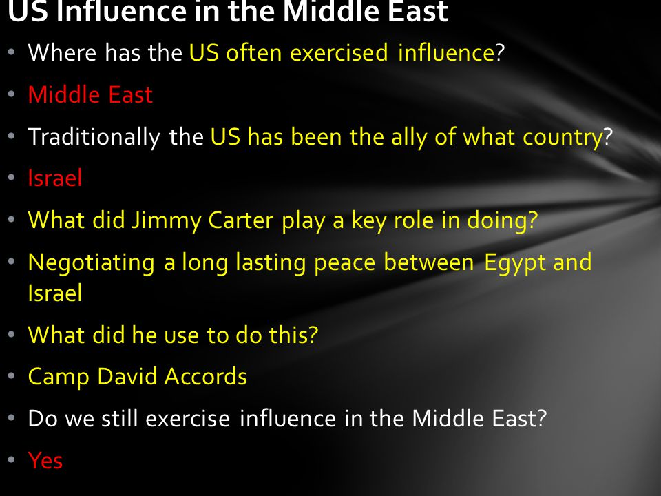 Where has the US often exercised influence.