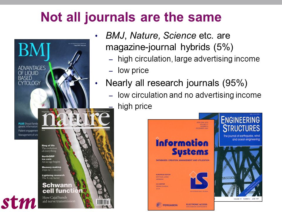 Not all journals are the same BMJ, Nature, Science etc.