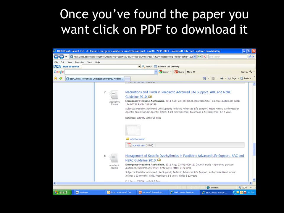 Once you've found the paper you want click on PDF to download it