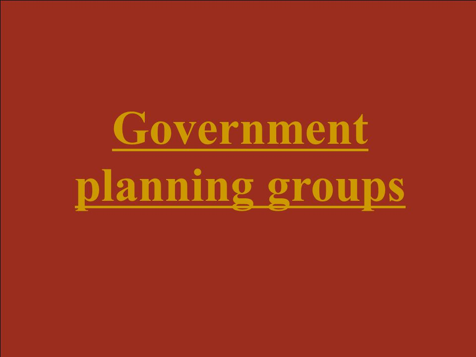 Government planning groups