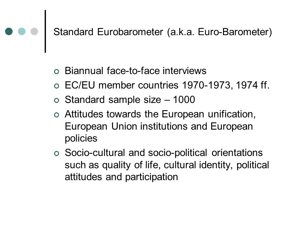 Standard Eurobarometer (a.k.a.