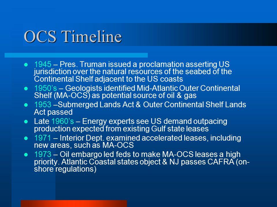 OCS Timeline 1945 – Pres.