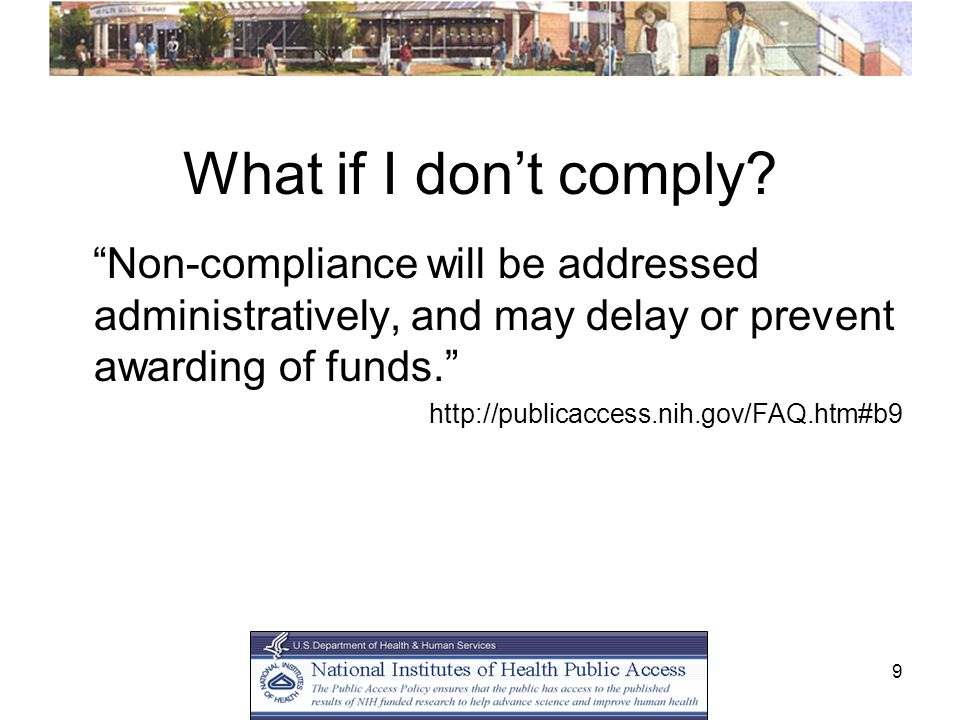 9 What if I don't comply.