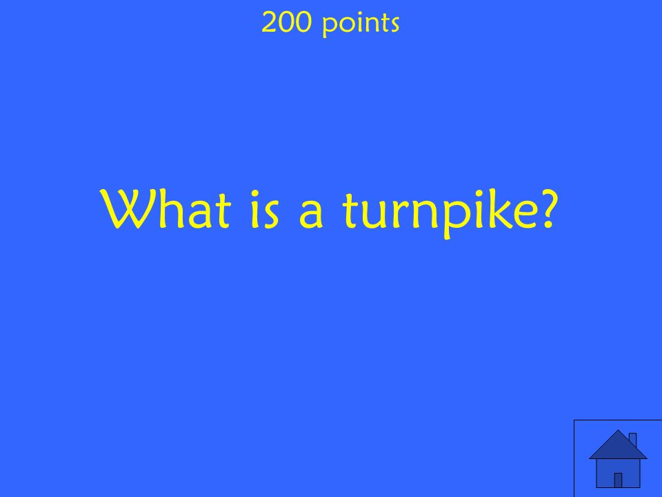 What is a turnpike 200 points