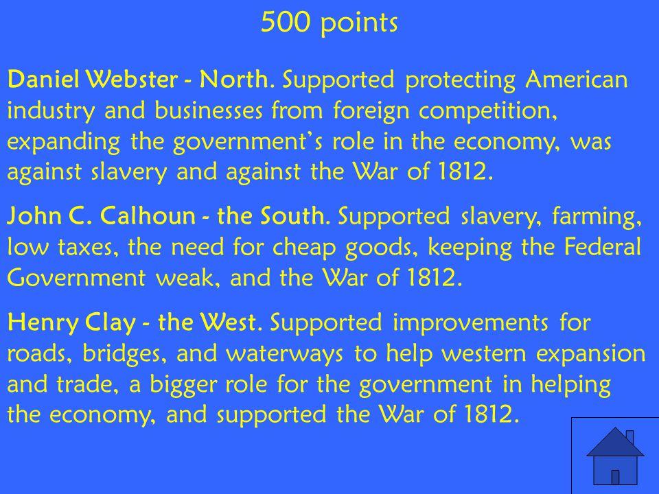 Daniel Webster - North.