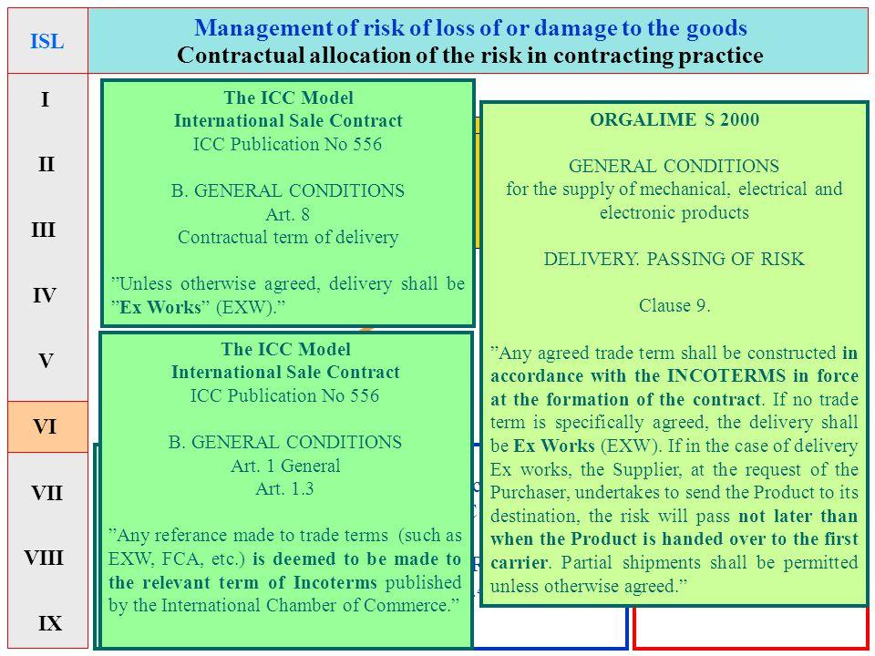 Combiterms - Institute Cargo ClausesInstitute Cargo Clauses - Exemption-clauses - Force majeure -clauses - Hardship-clauses - Incoterms &Incoterms & -CISG art.