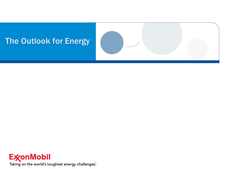 The Outlook for Energy
