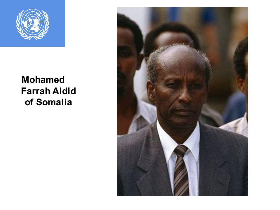 Ali Mahdi Mohamed of Somalia