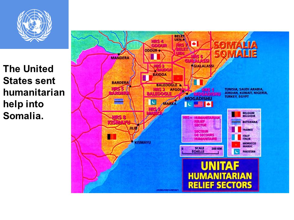The United Nations stepped in to help improve the Somali situation.