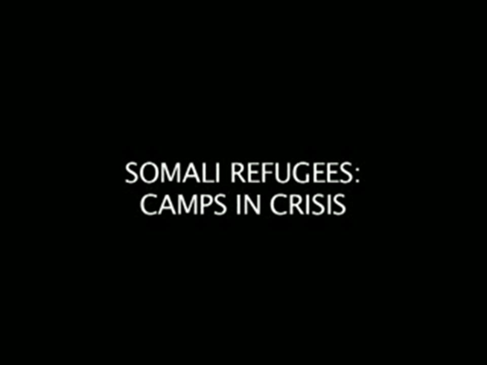 UN High Commissioner for Refugees helped Somali refugees at one of their camps.