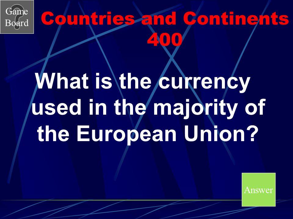 Game Board Countries and Continents 300 A A.Venezuela B.Canada C.Brazil D.Cuba