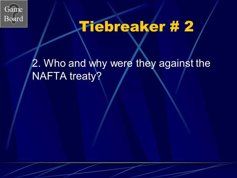 Game Board Tiebreaker # 1 1. Why is Brazil closer to a command economy than Canada?