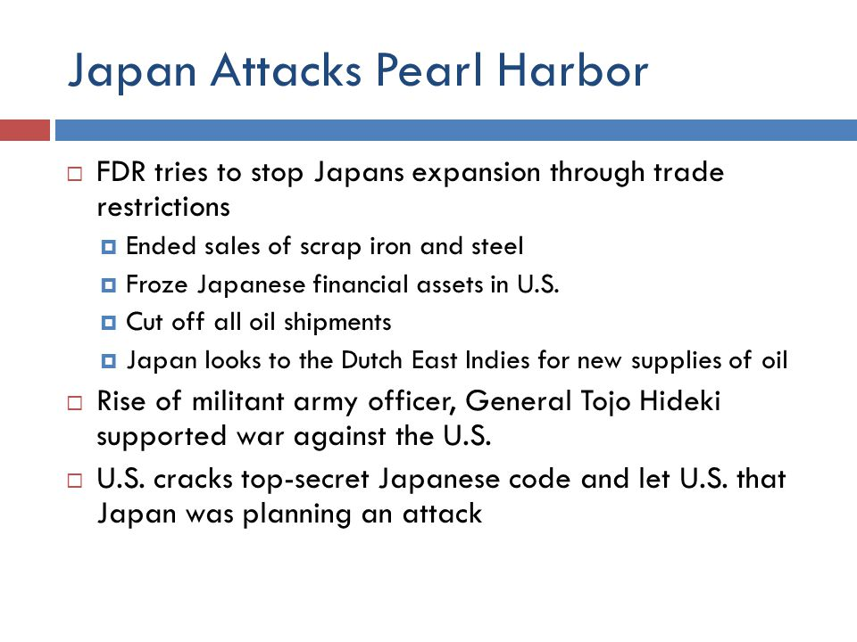 Japan Attacks Pearl Harbor  a date which will live in infamy  December 7, 1941  U.S.