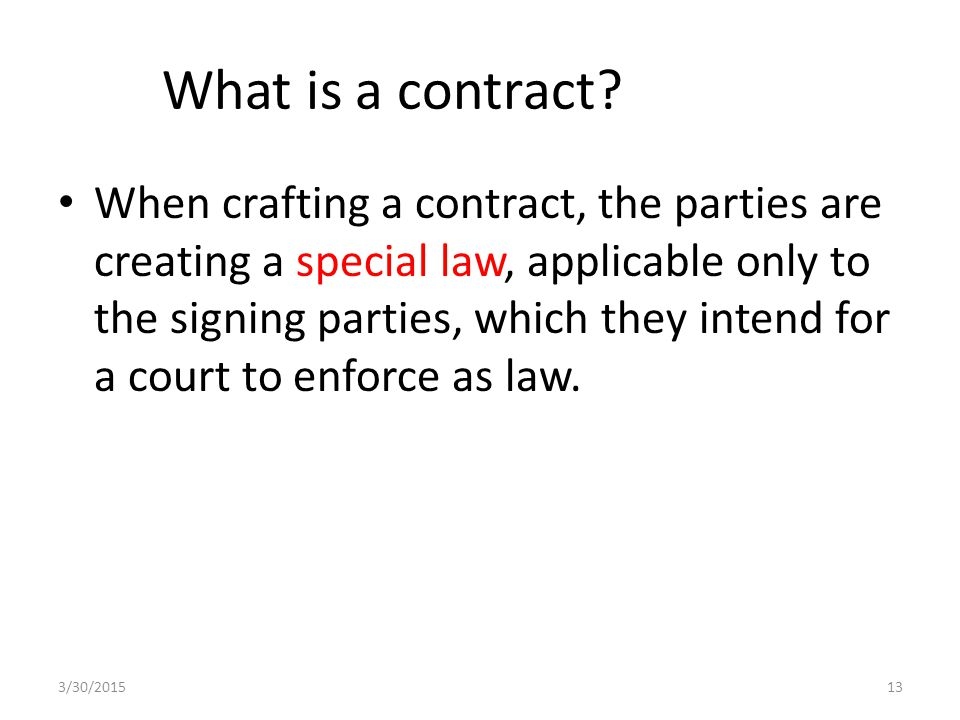 What is a contract.