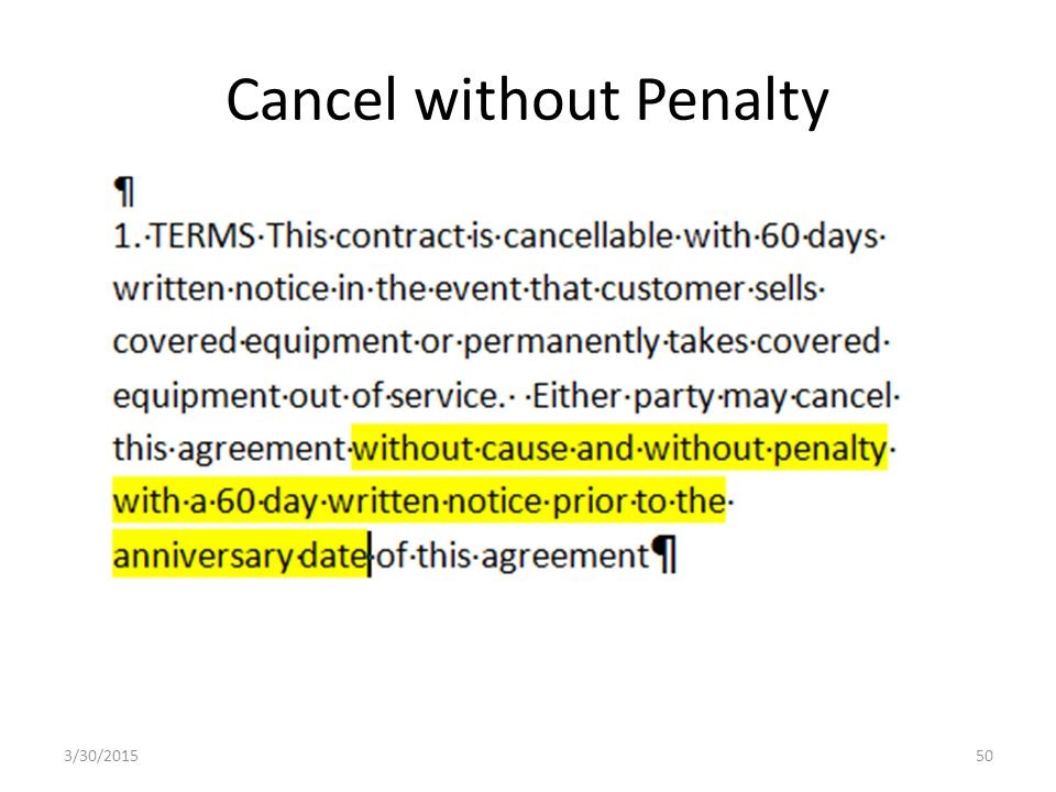 Cancel without Penalty 3/30/201550