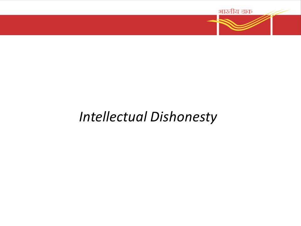 Intellectual Dishonesty