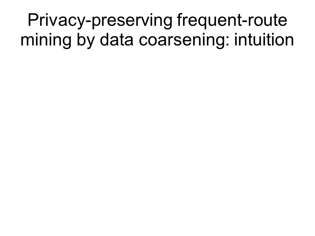 Privacy-preserving frequent-route mining by data coarsening: intuition