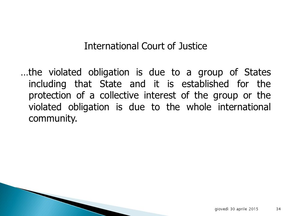 International Law Commission Article 48 - Invocation of responsibility by a State other than an injured State 1.