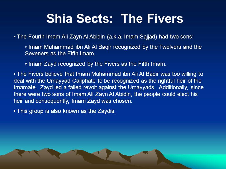 Shia Sects: The Fivers The Fourth Imam Ali Zayn Al Abidin (a.k.a.