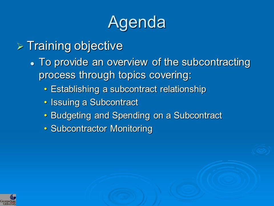 Monitoring  The Subrecipient Matrix Examples of criteria for the overall sub: Examples of criteria for the overall sub: Foreign v.