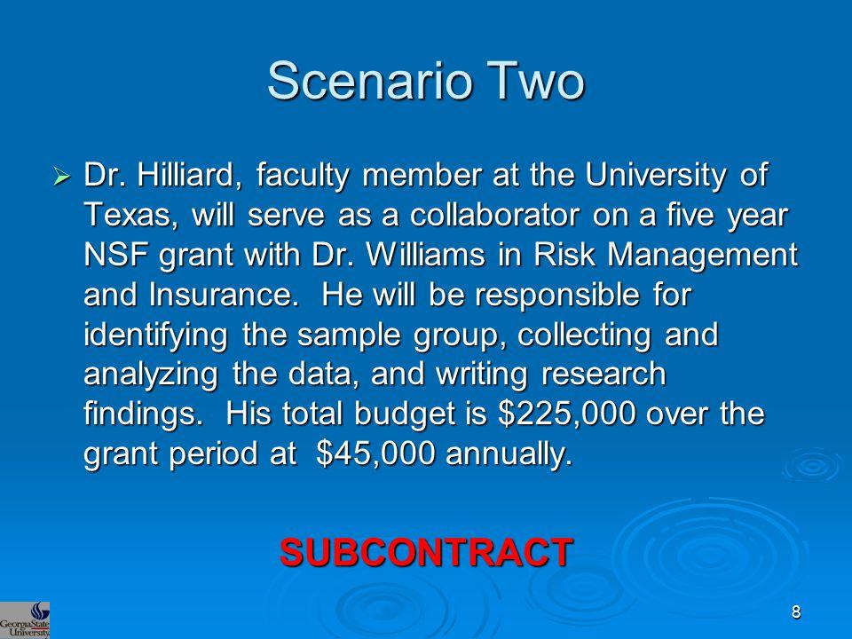 Scenario Two  Dr.