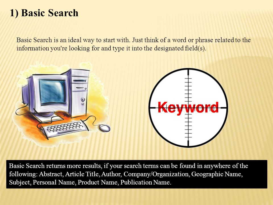 Basic Search Interface: Ebsco & ProQuest