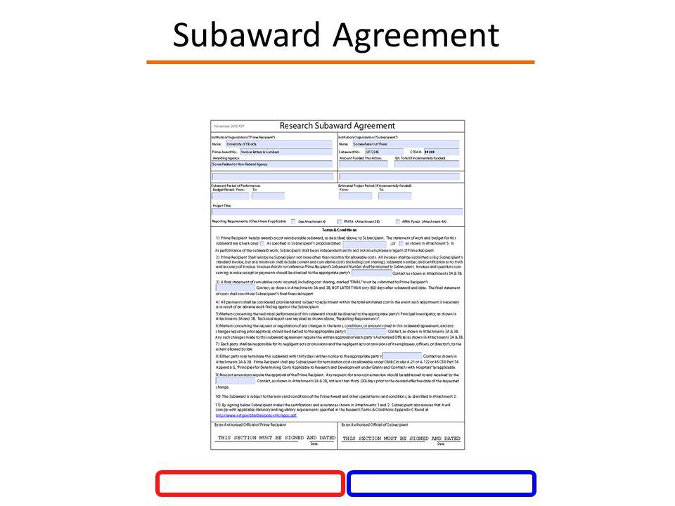 Subaward Agreement