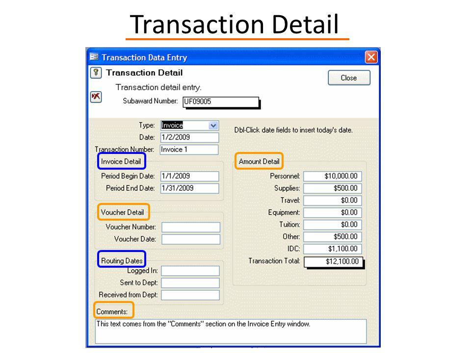 Transaction Detail
