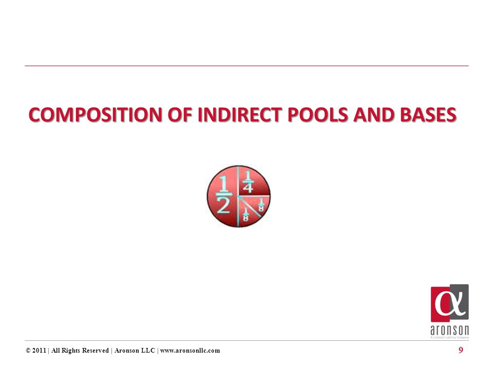 © 2011 | All Rights Reserved | Aronson LLC | www.aronsonllc.com 9 COMPOSITION OF INDIRECT POOLS AND BASES