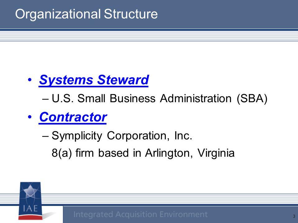 3 Organizational Structure Systems Steward –U.S.
