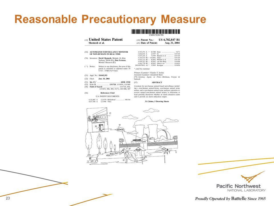 Reasonable Precautionary Measure 23